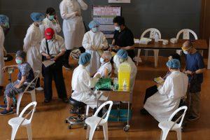 台北慈院支援新北五處靜思堂接種站 「宇美町式注射」好貼心